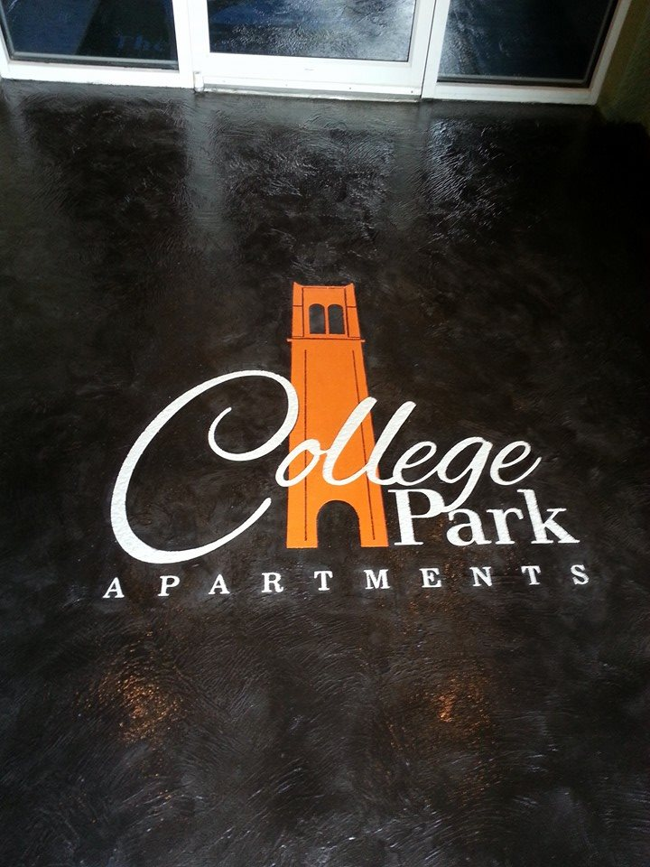 college park apartments entry and logo