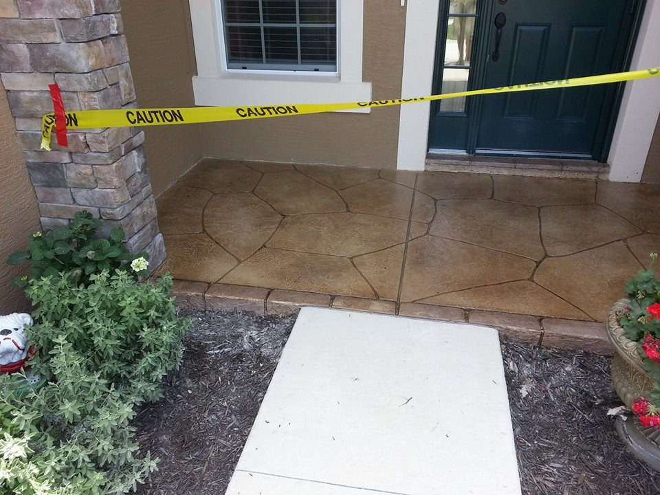 flagstone entry front porch