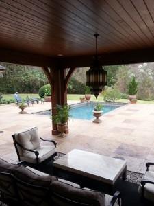 large tile pool deck