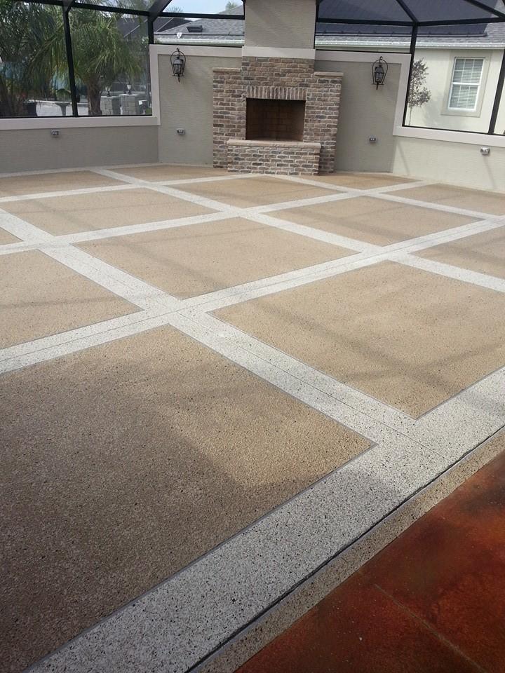 large tile with large borders lanai