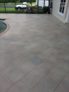 light tone tile pool